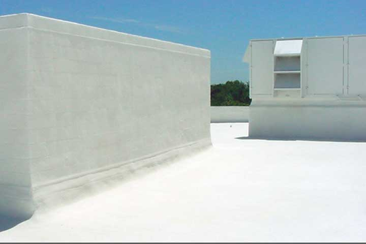 spray foam cool roof insulation flat